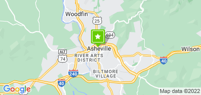 Map of Asheville City Police Department