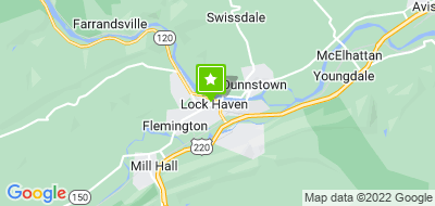 Map of Fitness Unlimited of Lock Haven