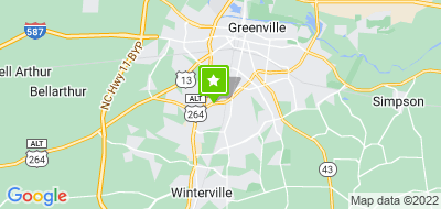 Map of Hilton Greenville