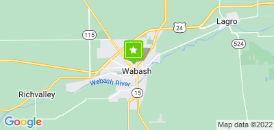 Map of Wabash County Central Dispatch