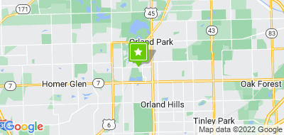 Map of Orland Park Dentistry for Children