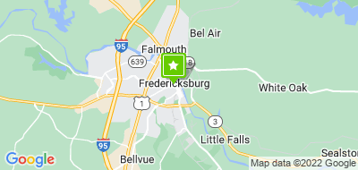 Map of Fredericksburg Center for The Creative Art