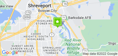 Map of Shreveport-Bossier City Fire Fighters Association