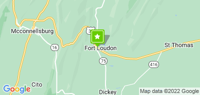 Map of Fort Loudon Community Center